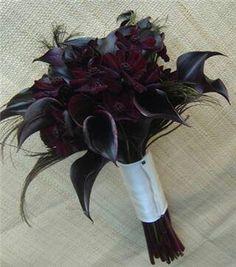 Black cala Lily bouquet