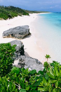 White sand tropical beach of Hateruma Island, Okinawa, Japan
