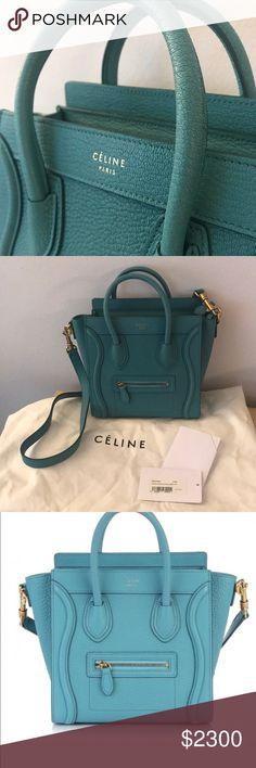 d73077fcd8 Brand New Celine Nano Bag with Detachable Strap New with tags Celine Nano  bag in aqua