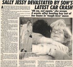 Raphael, Sally Jessy / Devastated by Son's Latest Car Crash   Magazine Article with 2 Photos   1992