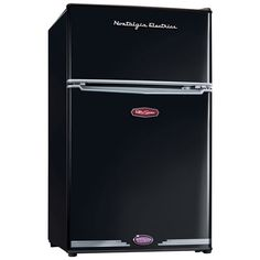 nostalgia electrics black retro mini fridge