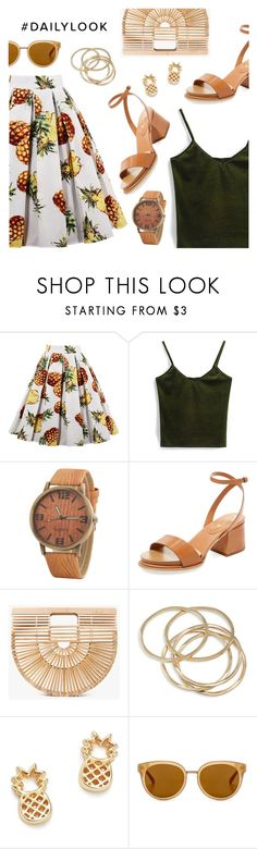 """Daily Look"" by dressedbyrose ❤ liked on Polyvore featuring Tod's, Cult Gaia, ABS by Allen Schwartz, Bing Bang, Draper James and vintage"