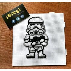 Stormtrooper - Star Wars hama mini beads by bits.veracruz