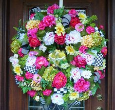 Custom Order Summer Wreath for Liz DecoGlitz on Etsy