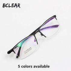 b4942d8f0d5 BCLEAR New Arrival optical frame semi-rimless Prescription glasses alloy  half frame eyeglasses business men spectacle frame