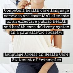 Competent Language Services in Health Care