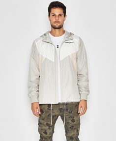 hot sale online 6c0de 5e51b Track-Star Hooded Track Jacket Light Grey - Outerwear - Mens   NENA AND  PASADENA