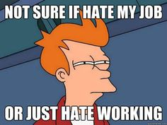 I'm pretty sure I just hate working :s