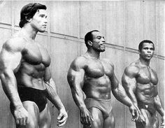 Arnold Schwarzenegger, Sergio Oliva & Serge Nubret