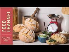 Εύκολο ζυμωτό ψωμί και δροσερή μαϊντανοσαλάτα - YouTube Dairy, Bread, Cheese, Youtube, Food, Type, Brot, Essen, Baking