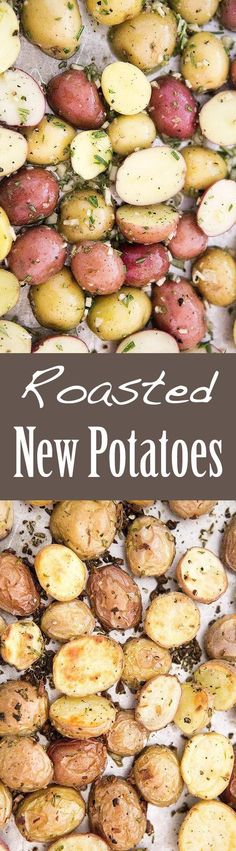 Roasted New Potatoes are so EASY to make! And they go with practically anything, especially chicken or steak. You'll want to eat them like popcorn! #glutenfree On SimplyRecipes.com