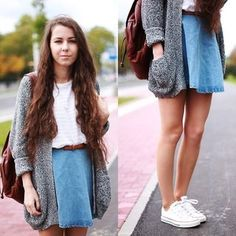 Skirt with cardi
