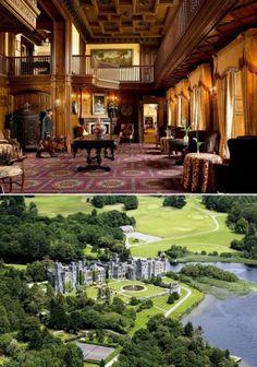 Com mais de 800 anos de história, o Ashford Castle Hotel, na Irlanda, já recebeu celebridades como o Rei George V e o Príncipe Edward.