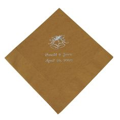 Silver Gold Wedding Luncheon Napkin