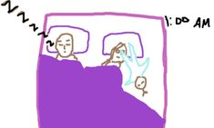 what it is like to (not) sleep at night – illustrated with crappy pictures™   Crappy Pictures