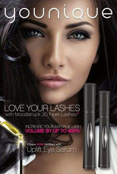 Youniques 3D Fiber Lash+ Mascara. Unbelievably Amazing! Healthy, naturally based and full of vitamins to condition and give you healthy lashes! Be Forever Fabulashed $29. for 3 Month Supply www.Youniqueproducts.com/VictoriasFabulousLashes