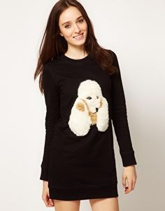 For the animal sweater lover without a budget... $352.00 Markus Lupfer Fluffy Poodle Dress