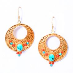 """""""coral"""", """"turquoise"""", """"gold"""", """"earrings"""" - Pesquisa Google"""