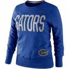 Nike Florida Gators Ladies Classic Fleece Crew Sweatshirt - Royal Blue