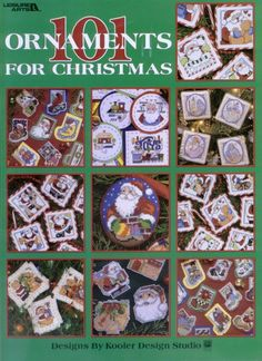 Leisure Arts - 3016 101 Ornaments for Christmas Vintage Christmas Ornaments, Christmas Cross, Christmas Stockings, Christmas Patterns, Cross Stitch Tree, Cross Stitch Books, Cross Stitching, Cross Stitch Embroidery, Christmas Questions