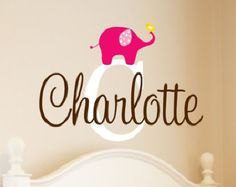 Name Wall Decal Name Wall Decal Childrens Wall by LucyLews