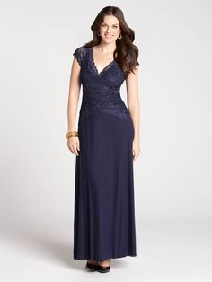Sequined Lace Top Gown 149$  R & +
