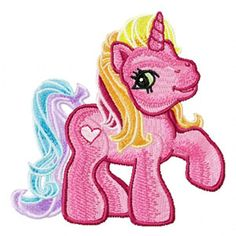 My Little Pony 3 machine embroidery design for gitls clothes