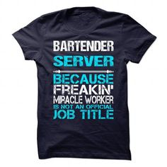 BARTENDER SERVER-MIRACLE - #adidas hoodie #sweater vest. LIMITED TIME => https://www.sunfrog.com/LifeStyle/BARTENDER-SERVER-MIRACLE.html?68278