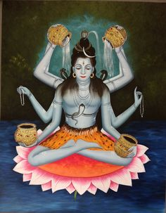 Shiva Reincarnation - does anyone know which form of the Lord this is?Rare to see Lord Shiva on a lotus and with 8 hands