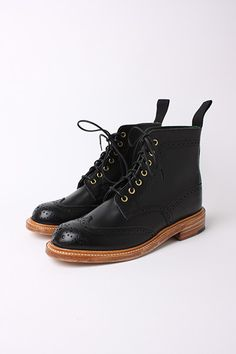 TRICKERS FOR SCOUT - LADIES BLACK BOX CALF BROGUE BOOT