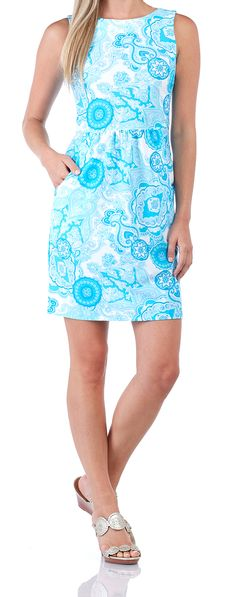Mary Pat Dress in Captiva Paisley Turq Florida Location, Summer Collection, Palm Beach, Envy, Paisley, Boutique, Womens Fashion, Clothing, Shopping