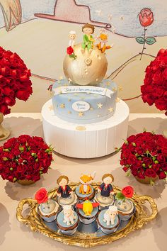 Festa infantil com tema Pequeno Príncipe - Constance Zahn Lemon Birthday Cakes, Panda Birthday Cake, Jungle Birthday Cakes, Prince Birthday Party, Baby Boy 1st Birthday Party, Little Prince Party, The Little Prince, Baby Shower Wall Decor, Prince Cake