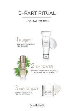 bareMinerals® SKINSORIALS™ 3-part ritual features cleansers that revitalize your skin, a first-of-its-kind serum called SKINLONGEVITY ™ to enhance the healthy look and feel of your skin, and moisturizers that soften, smooth and deeply replenish. This new skincare line is filled with what your skin craves: gorgeous textures, naturally derived scents and effective ingredients. An exquisite beauty ritual for younger, ridiculously glowy skin. Shop now at bareMinerals.com