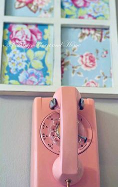 Vintage phone and fabric
