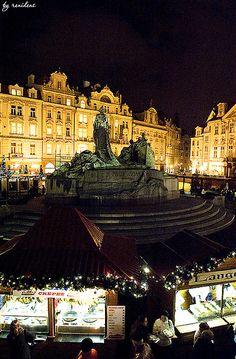 The Jan Hus Memorial - Prague, Czech Republic