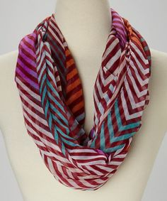 Look what I found on #zulily! Purple & Teal Chevron Infinity Scarf by Imperial #zulilyfinds