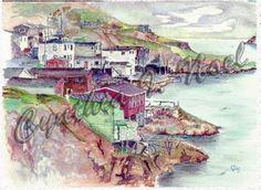 Newfoundland And Labrador, St John's, Artwork, Painting, Work Of Art, Painting Art, Paintings, Paint, Draw