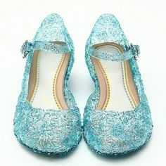 Snow Queen Elsa Anime cosplay shoes Fashion Lolita Sweet Children's shoes wedge cheap blue shoes