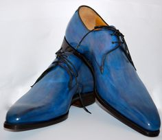 True Blue ... Carlos Santos - Portugal .... Patina Created By Patine Artist Bryan Cuero Tap Shoes, Me Too Shoes, Dance Shoes, Gordon Rush, Goodyear Welt, Sport Coats, Prom Ideas, Men S Shoes, Luxury Shoes