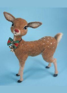 Rudolph Needle Felted Reindeer