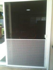 pet door on sliding screen doors