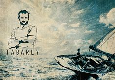 Eric Tabarly, tribute poster and some steps