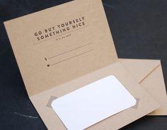Letterpress Gift Certificate Card