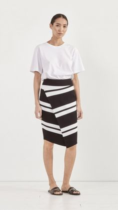 Clift Skirt by A.L.C.. Tall Poppy Top - done in stripe??