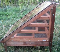 Solar Food Dehydrator - no need to plug it in, the sun does all the work.