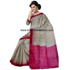 Tussar Silk Saree | Best quality tussar saree | Latest tussar silk saree - Odisha Saree Store