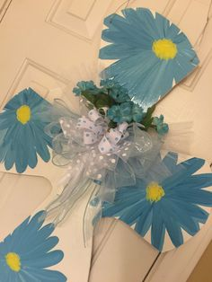 Blue Daisies- First Holy Communion