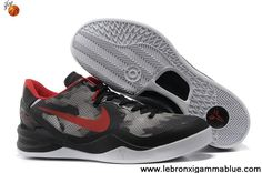 Latest Listing Mesh Grey Black University Red Nike Zoom Kobe 8 Sports Shoes Store
