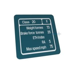 Loco Data Panel Metal Signs are x signs and feature the loco class data panel and background livery of your choice.