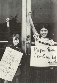 Equal rights -- was this from the days when it was assumed only girls were at risk from 'stranger danger' ?